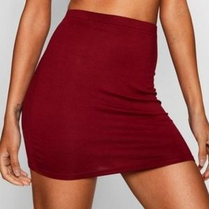 Deep Red Skirt NWOT